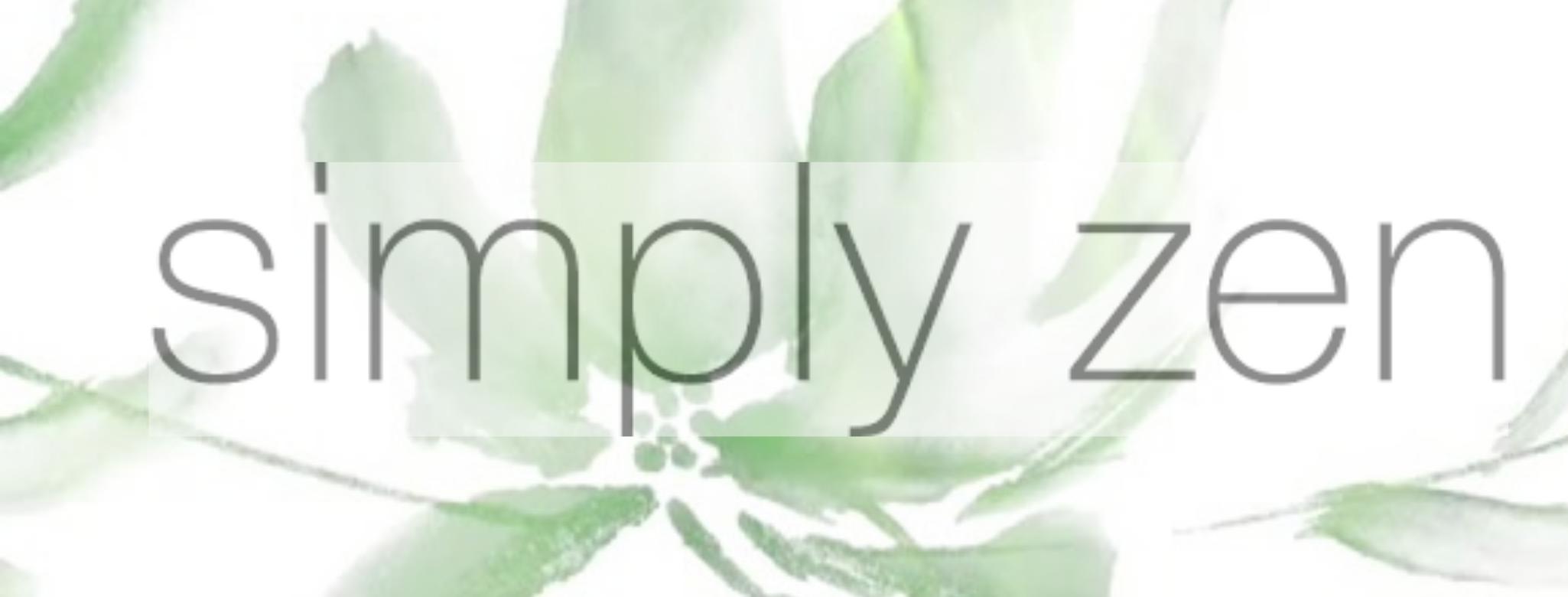 Simply Zen Banner til brand siden