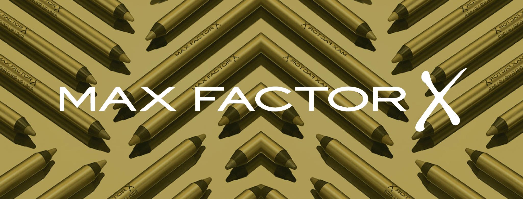 Max Factor banner til brand siden