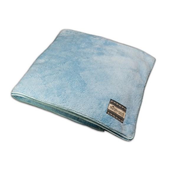 Et Blåt microfiber håndklæde i suveræn kvalitet