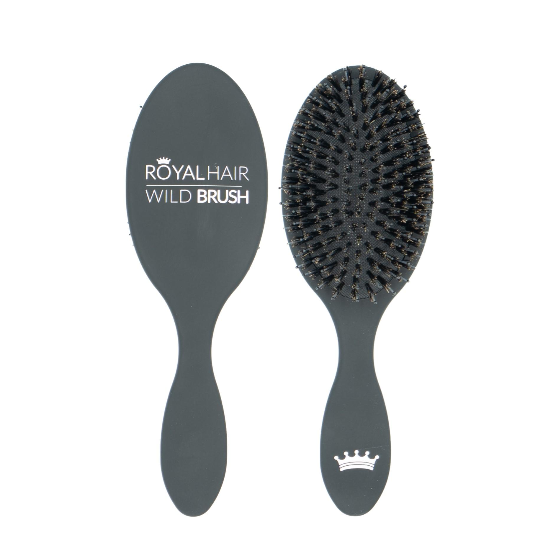 Royal hair Wild Brush med vildsvinehår som er rigtig god til alle hårtyper